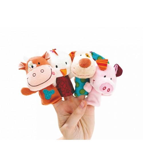 Marionnettes à doigts et décor la ferme de Lilliputiens