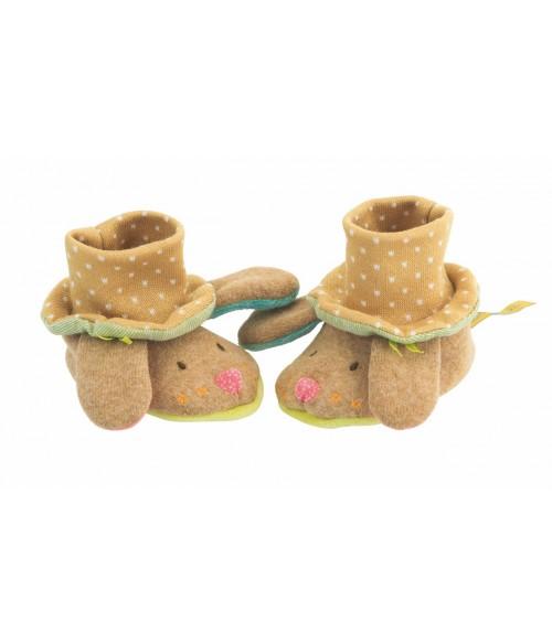 Chaussons bébé chien - Les Tartempois