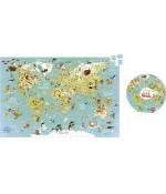 Puzzle Carte du monde fantastique - Vilac