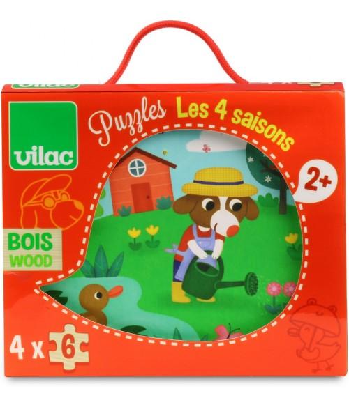 Puzzle en bois Les 4 saisons - Vilac