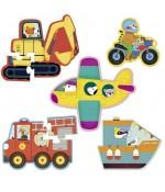 Puzzles en boisTransports - Vilac
