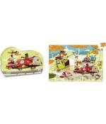 Puzzles en bois course de bolides - Vilac