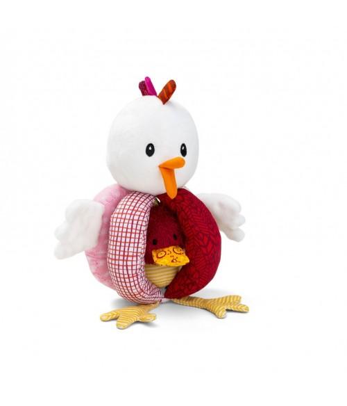 Ophélie la poule Hochet à Poignées