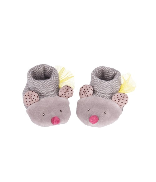 Chaussons souris gris Moulin Roty - Les Pachats