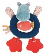 Anneau-hochet hippopotame Les Papoum