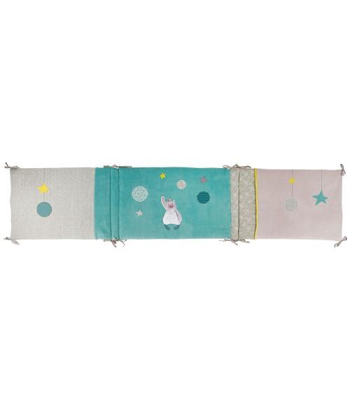 tour de lit et ribambelle tour de lit bebe en solde tour de lit fille lapinou rose tour de lit. Black Bedroom Furniture Sets. Home Design Ideas