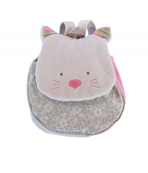 Sac à dos chat gris Moulin Roty - Les Pachats