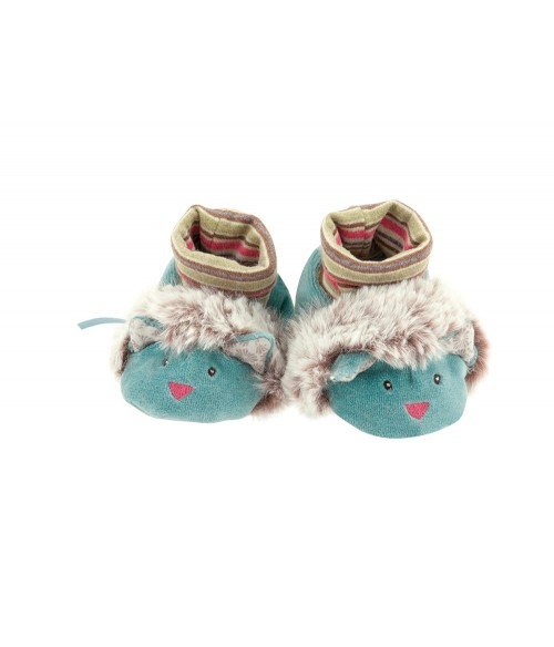 Chaussons souris verts Moulin Roty - Les Pachats