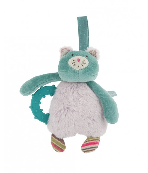 Hochet chat anneau dentaire Moulin Roty - Les Pachats