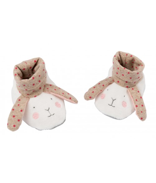 chaussons lapin Les Petits dodos Moulin Roty