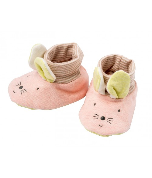 chaussons souris Les Petits dodos Moulin Roty