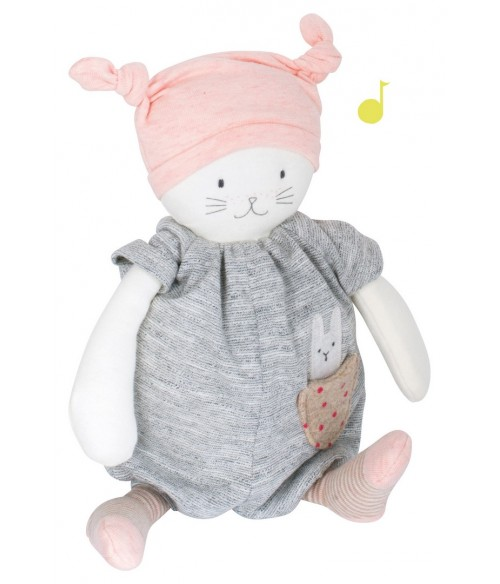 Peluche musicale chat Moon Les Petits dodos Moulin Roty