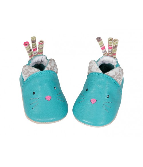 Chaussons cuir Les pachats Moulin Roty
