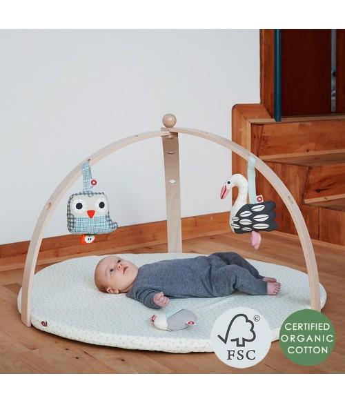 Portique d'éveil pour bébé en bois naturel - Franck & Fischer