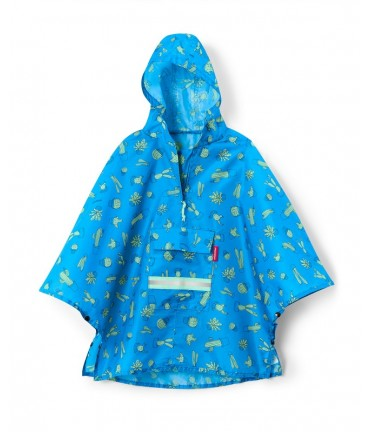grande vente 5f8b3 323ac Poncho Enfant Mini Maxi Bleu Cactus - Reisenthel