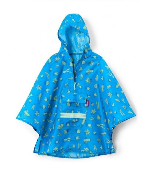 Poncho Enfant Mini Maxi Bleu Cactus - Reisenthel