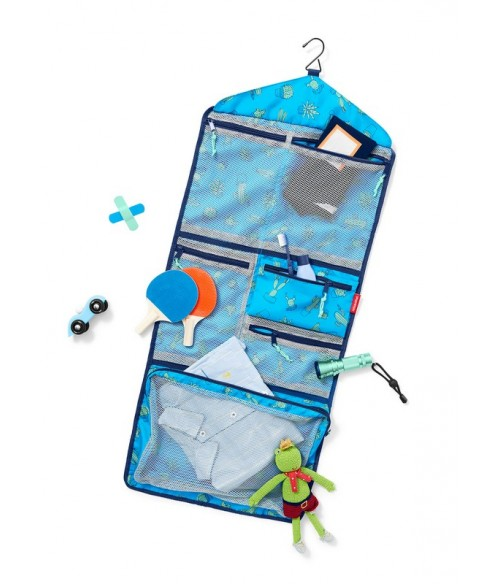 Pochette organiseur de voyage Enfant Bleu Cactus - Reisenthel