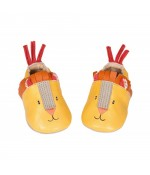 Chaussons cuir Lion Les Papoums Moulin Roty