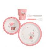 Set vaisselle rose Les jolis trop beaux Moulin Roty