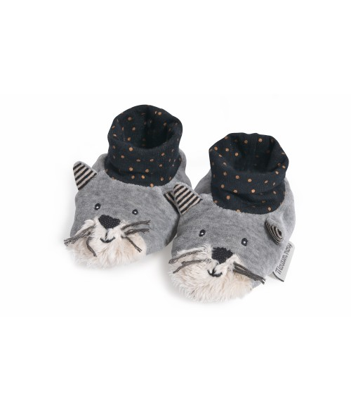 chaussons Fernand Les moustaches - Moulin Roty