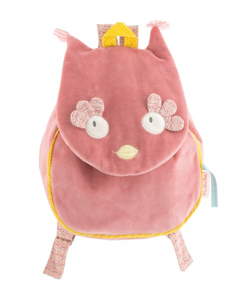 Sac a dos personnalisable - moulin roty mademoiselle et ribambelle chouette