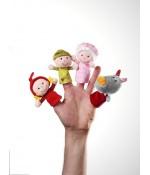 Marionnettes à doigts petit chaperon rouge de Lilliputiens