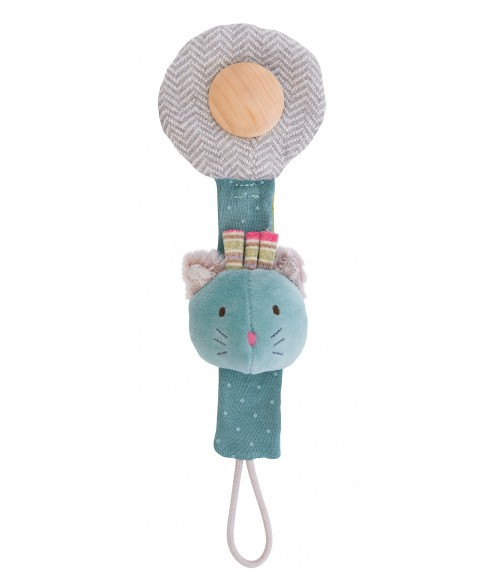 Attache sucette chat Moulin Roty - Les Pachats