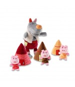 Marionnettes Loup et les 3 petits cochons de Lilliputiens - Les Contes